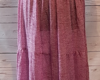 Vintage 1970's 70's maxi dress, neon stripes bodice with purple tiered skirt UK size 10 - 12