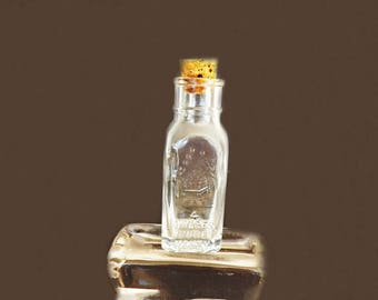 Vintage Honey Jar, Honey Bottle, Honey Acres, Honey Bee Beekeeper Collectible, Old Glass Bottle, Shelf Decor, Kitchen Decor, Vintage Glass