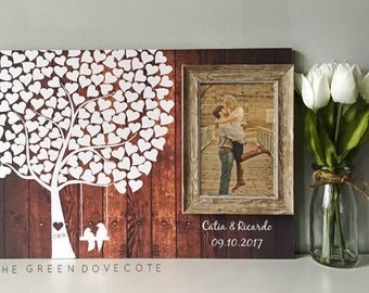 Wedding Guest Book - Rustic Wedding Guestbook - Custom Guest Book - Wood Guestbook - Unique Guest Book - Love Tree Sign