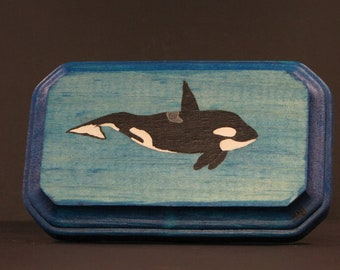 Orca Original Painting on wood