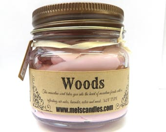 Woods Type Whipped Body Frosting 8 ounce Country Glass Jar - This is Incredible
