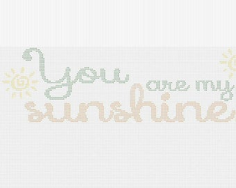 Graph Crochet - You are my sunshine Pattern
