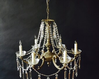 French chandelier dressed in crystal