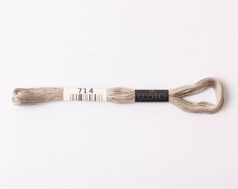 Cosmo  embroidery floss - elmwood #714 - 8m skein - 6 strands - size 25