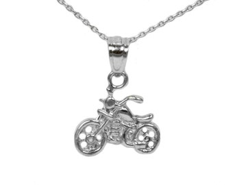 Sterling Silver Motorcycle Necklace