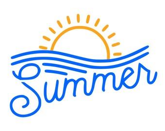Summer Wave Svg,Summer svg,Wave Svg, Ocean Wave Svg, Summer Sun svg, File Wave ,Png Silhouette File , Silhouette, Png, Eps, Dxf, Pdf, Summer