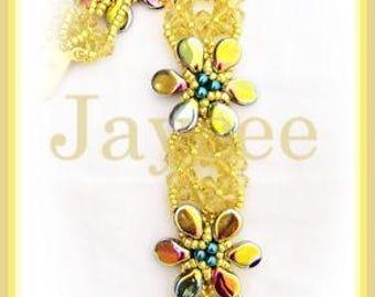 Beading Tutorial - Carmelita Bracelet - Triangle weave