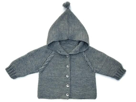 Bekend Baby hooded sweater gebreide baby trui breien baby jas brei VV68