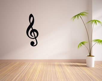 Treble Clef Vinyl Wall Decal