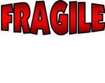 Fragile Shipping Packaging Label 1 x 2 5/8 inch Self Adhesive Stickers