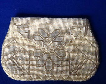 Hand-beaded French Art Deco 1920s Clutch Purse