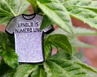 Numero Uno enamel pin