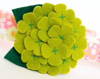 Flower Dog Collar - Green Hydrangea