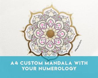 A4 Custom Healing Mandala Vibrational Artwork