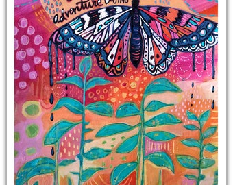 Butterfly - And So the Adventure Begins - Art Print