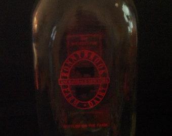 Vintage Milk Bottle - Ronnybrook Farm and Dairy - Ancramdale, New York