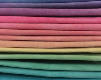 FREE SHIPPING - Hand Dyed Cotton Quilt Fabric - Tutti Fruiti