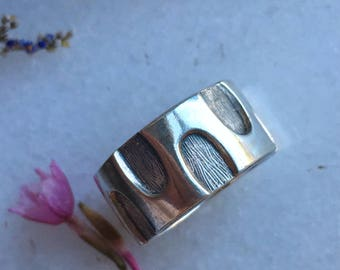Vintage Sterling Silver Handcrafted Ring