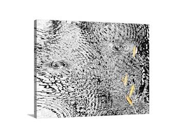 Raindrop Picture, Water Art, Abstract Nature Art, Serene Art, Water Ripple, Water Reflection, Raindrop Art, Nature Photograph, Fall Leaf Art