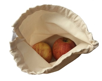 Fruit and vegetable bags made of organic cotton, size L