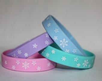 12 Frozen Party Favor Bracelets