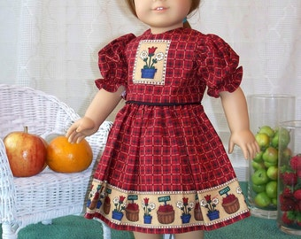Handmade Doll Dress for 18 inch doll, My Sundays Best Traditional Dress, Handmade doll clothes fits 18 inch dolls by WhisperingOak
