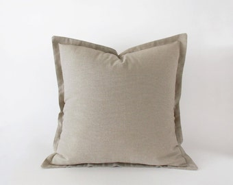 Light taupe decorative pillow cover in 16x16 inches, 18x18 inches, 20x20 inches and more sizes, lumbar cushion cover, neutral decor
