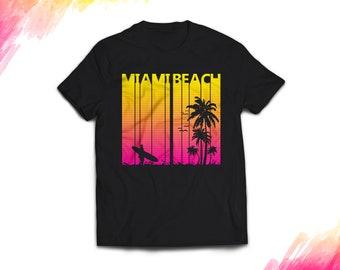 Miami Beach Shirt, Miami Beach tshirt women men, Vintage Retro 1980s Miami Beach t shirt Miami Beach t-shirt Miami Beach gift souvenir #1279