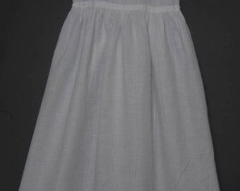 Antike Vintage weiß Baumwolle Taufkleid Log Unterrock
