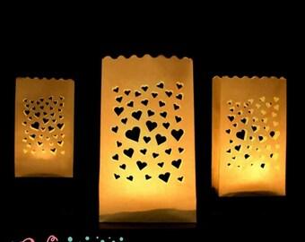 Lamps in paper bags