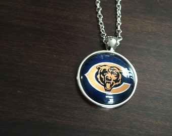 Chicago Bears, Chicago Bears necklace, Bears necklace, Bears jewelry, Bears pendant, Chicago, Bears, jewellery, silver necklace, necklace