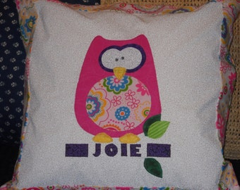 The Hoots - Pillow - to Match Quilt and Bumpers