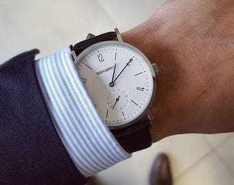 The minimalist design, leather, leather watch vintage automatic watch