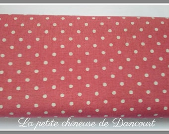 Fabrics metis coral polka dots