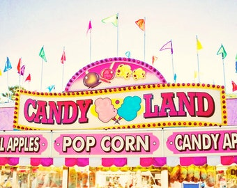 Fall fair photo - Candyland - 8x10 - home decor retro wall art carnival picture
