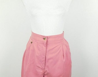 30% SPRING SALE Vintage 1990s 90s Sweet Briar Mauve Dusty Pink Minimal Elastic High Waist Long Lightweight Shorts Sz 16 XL Plus Size
