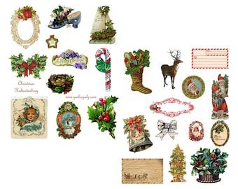 Christmas Haberdashery Collage Set