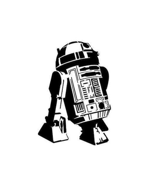 Bakell Stencil 7.5x10.5 Large R2D2 Star Wars Stencil