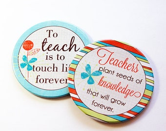 Teacher Coasters, Drink Coasters, Teacher Appreciation, Set of Coasters, Gift for Teacher, Coaster, Back to School, Teacher thank you (5132)