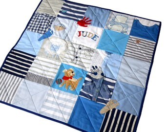 Baby memory quilt - Personalized baby clothes quilt - Baby keepsake blankets - Memory blanket - First year quilt - Baby clothes blanket
