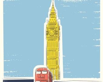 Travel art, Big Ben London Print, City Prints, Architectural Prints, Travel Print, Gifts for Him, London Art, Art Prints, Wall Art Print
