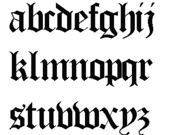 26 Letters Cross Stitch Alphabet Sampler