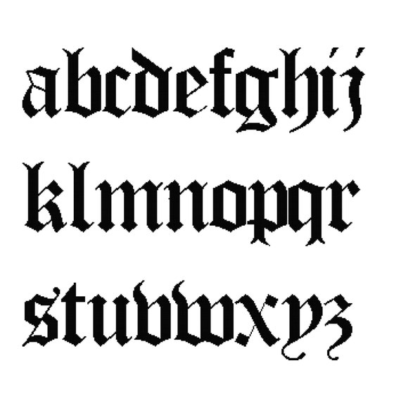 26 letters cross stitch alphabet sampler old english lower altavistaventures Choice Image