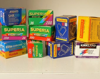 "Assortment of 35mm Camera Film - Colour Film ""For All Conditions"" -  Different Exposures - 10 Available"
