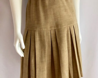 Vintage Women's 80's Wool Blend, Pleated Skirt, Knee Length by Act III (S)