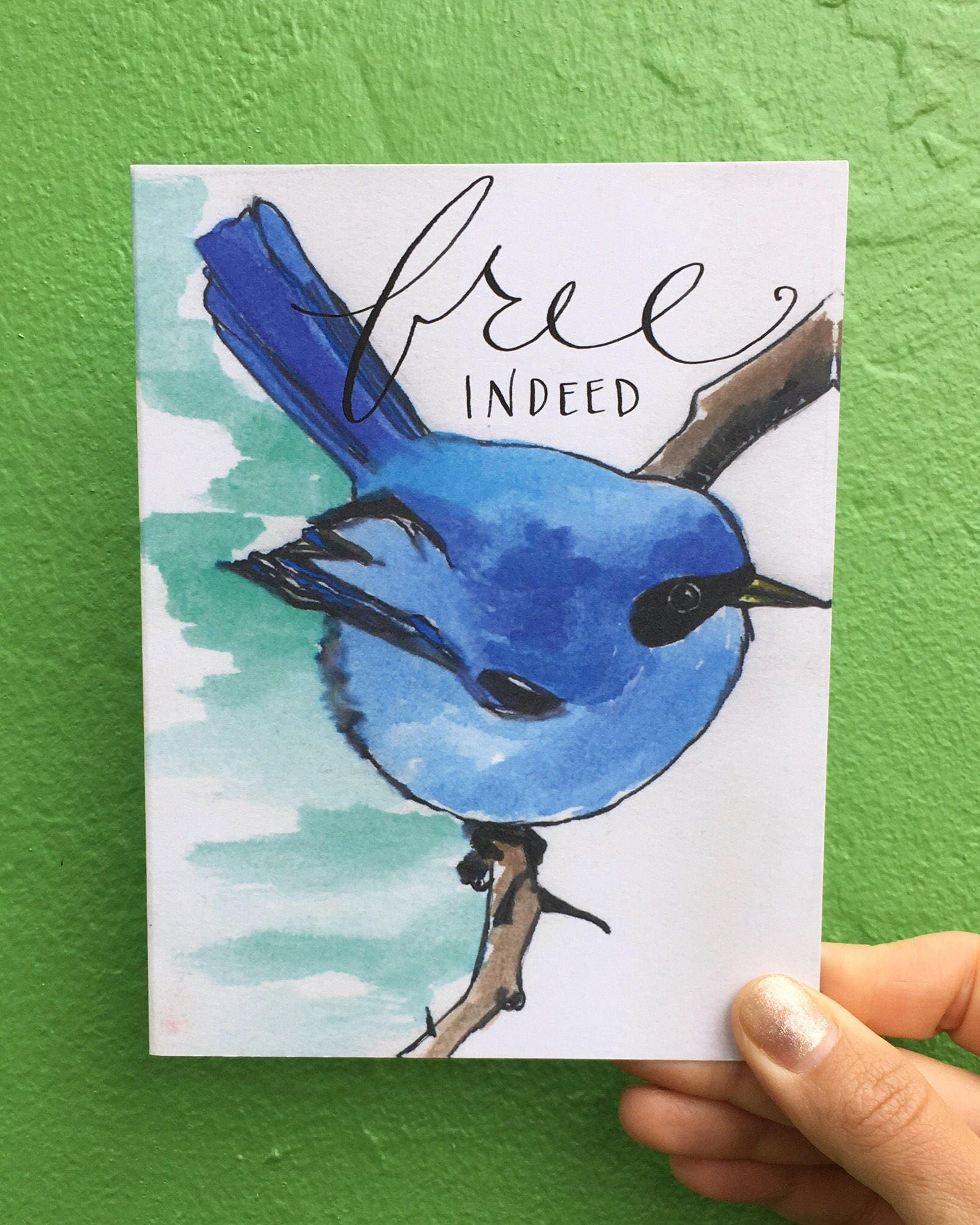 Blue Bird Free Indeed Card