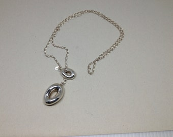 L'una Italian Sterling Slide Necklace Signed
