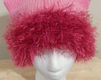 Cat Hat with Faux Fur Brim
