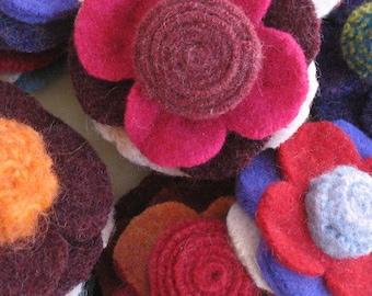 Pattern - Sew a Felt Flower Pin - Sewing Instructions, PDF Tutorial