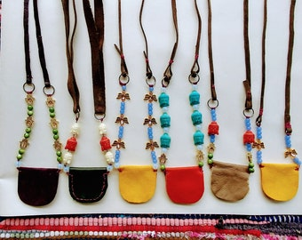 Angel Medicine Pouch Necklace